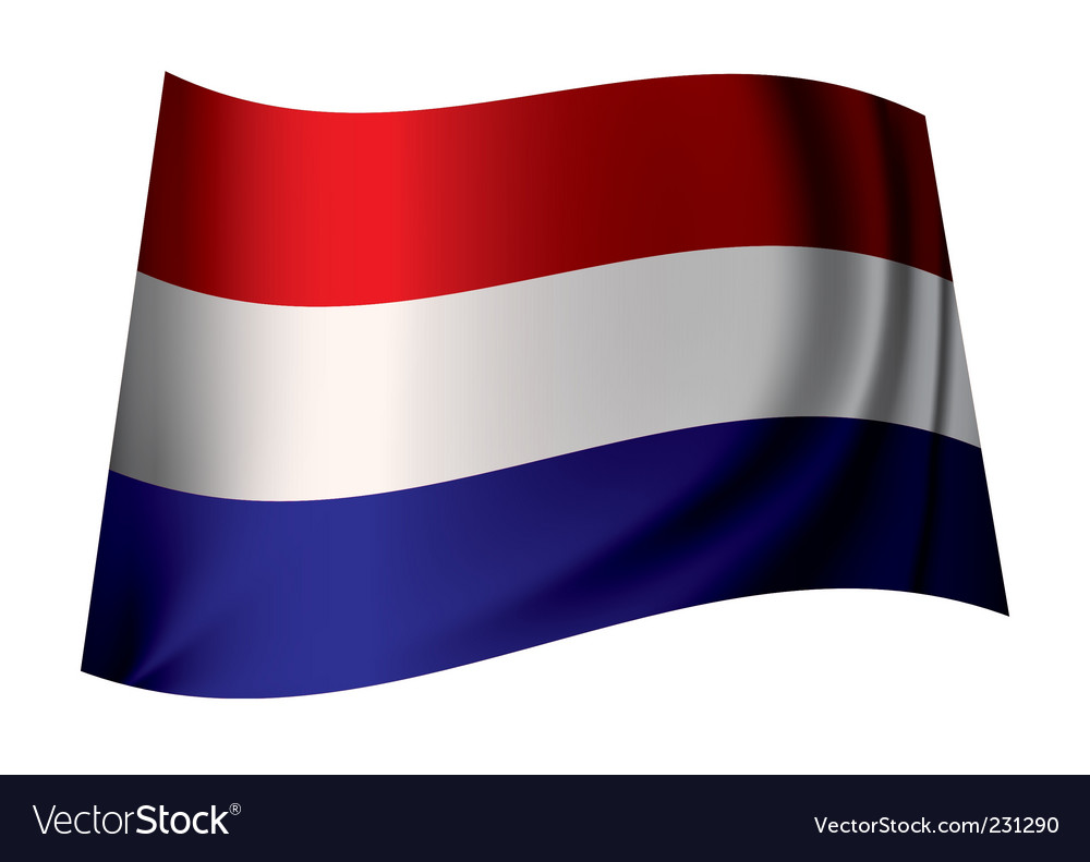 Holland flag vector | Price: 1 Credit (USD $1)