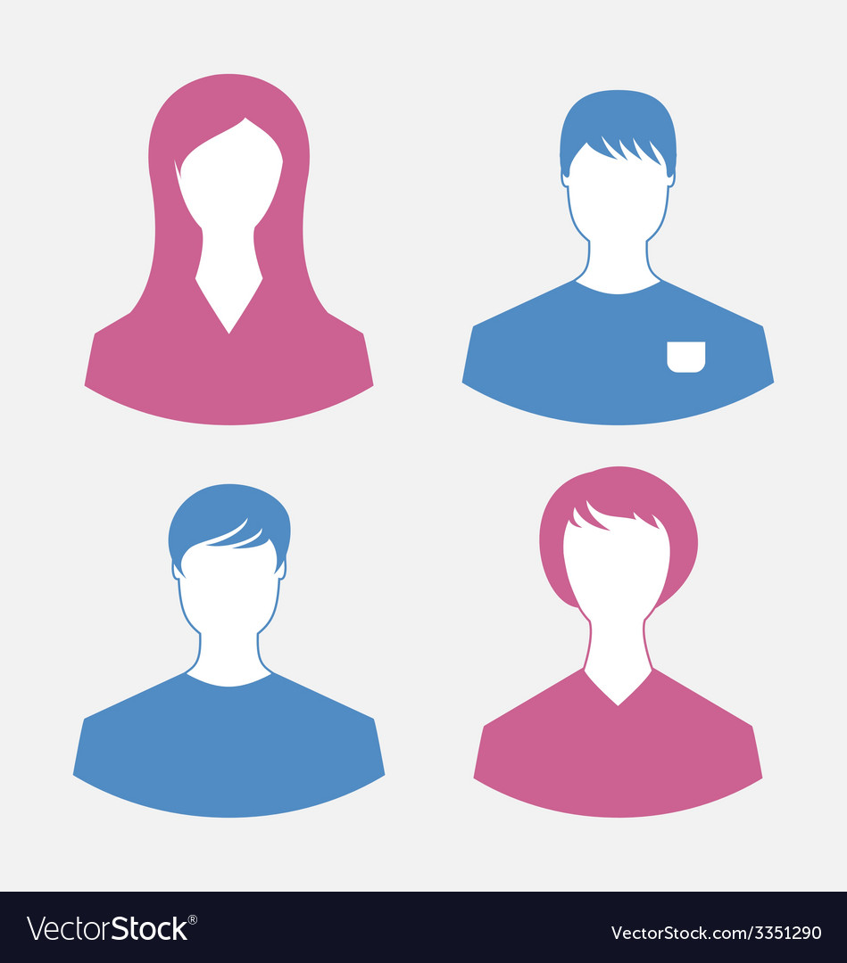 Male and female user icons modern flat design vector | Price: 1 Credit (USD $1)