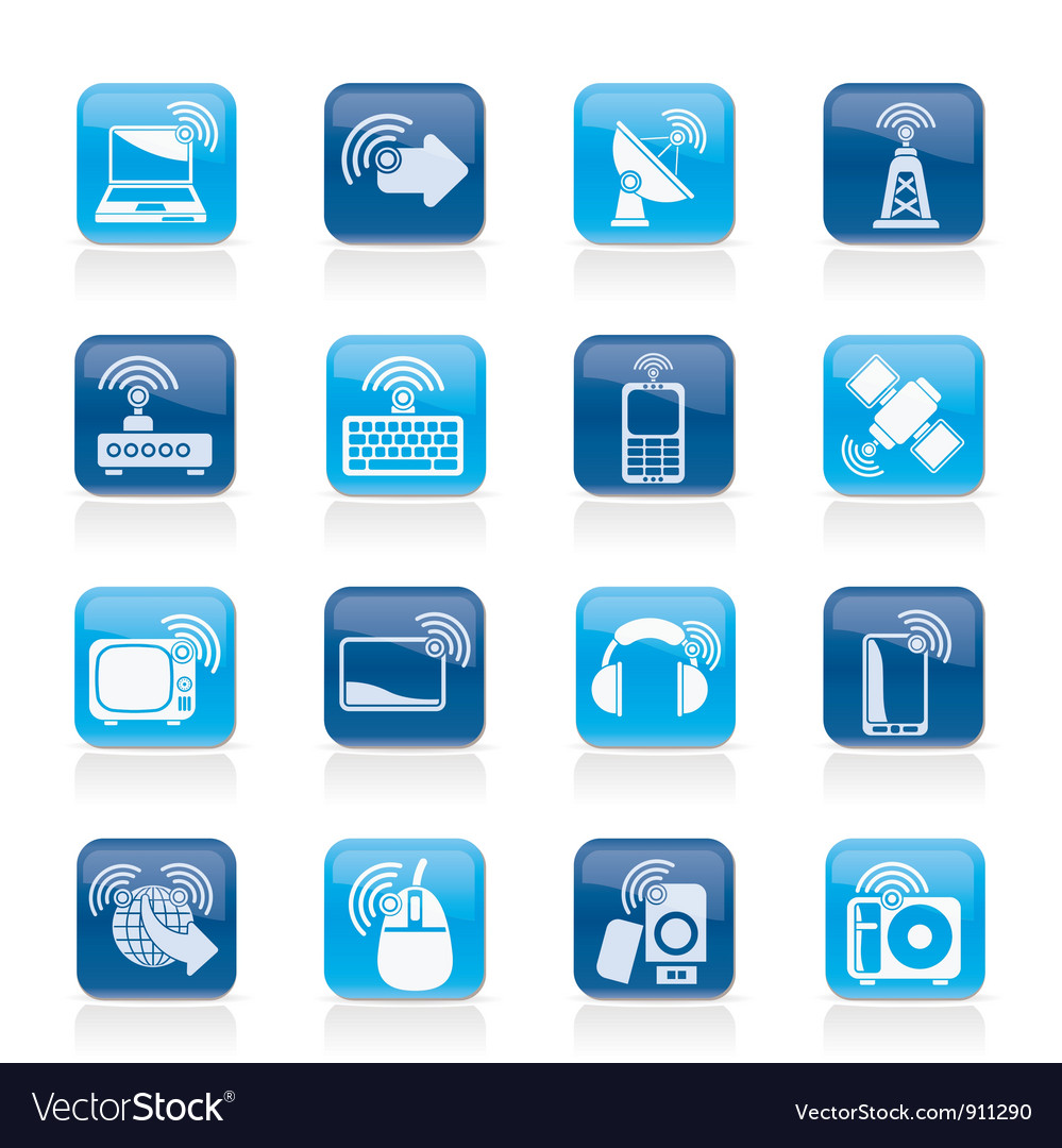 Wireless and technology icons vector | Price: 1 Credit (USD $1)
