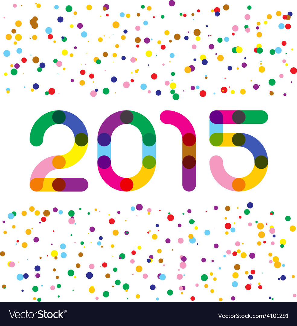 2015 happy new year graphics links style digits vector | Price: 1 Credit (USD $1)