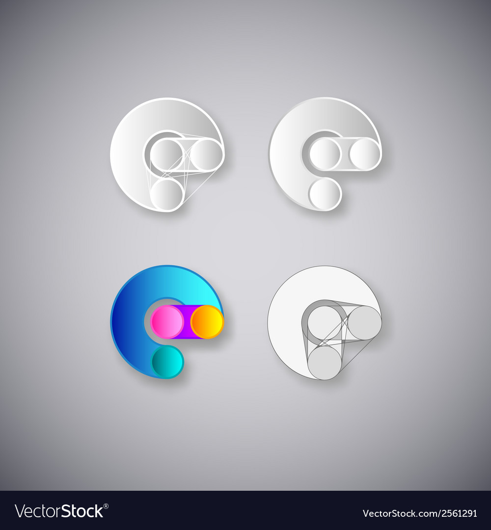 Abstract combination of letter e vector | Price: 1 Credit (USD $1)