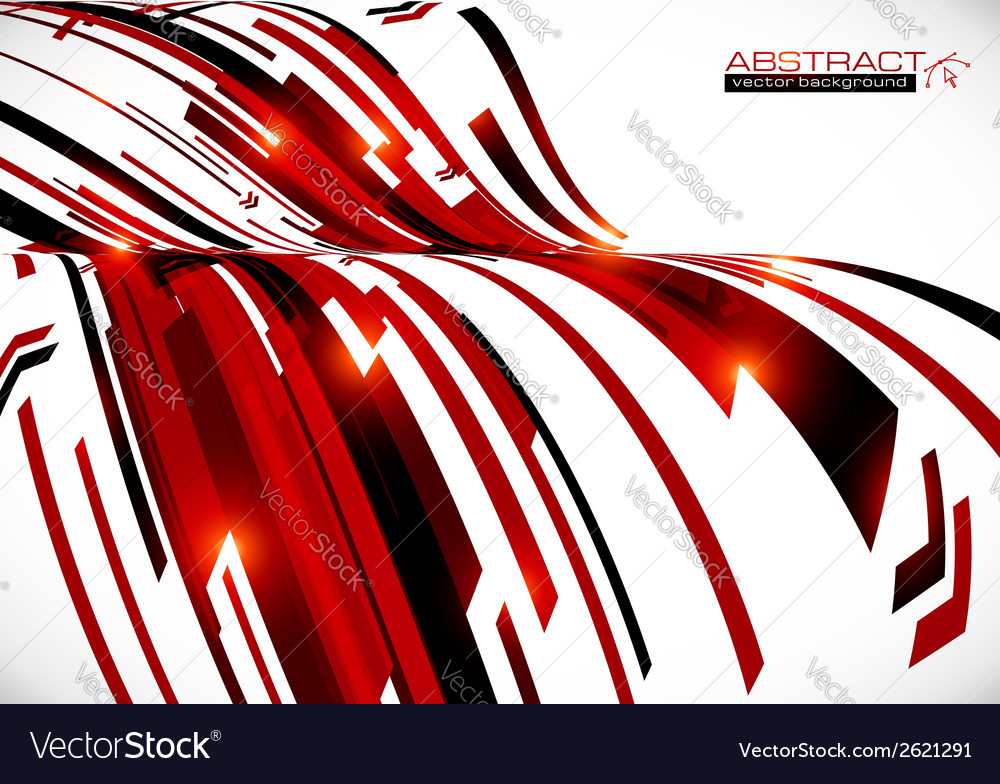 Abstract dark red curves background vector | Price: 1 Credit (USD $1)