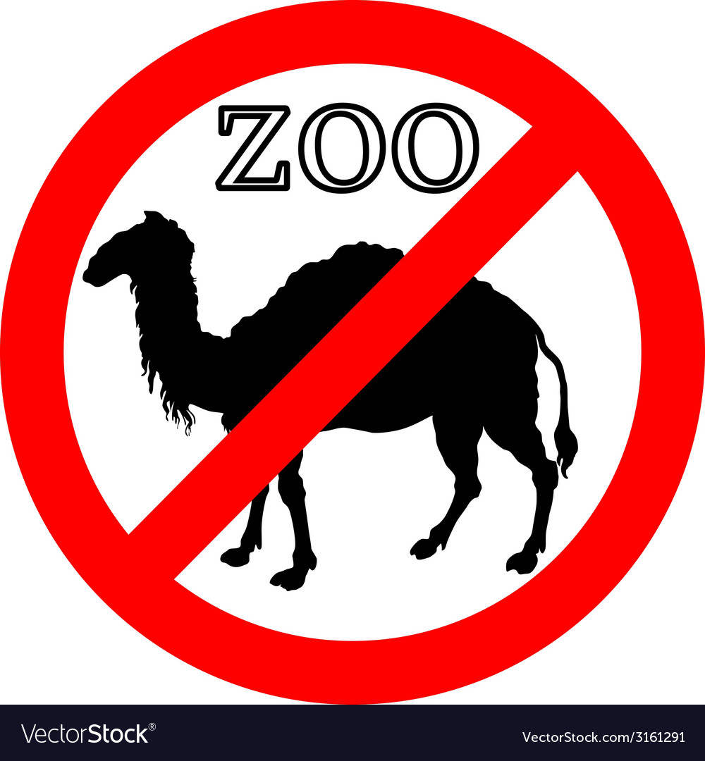Camel in zoo prohibited vector | Price: 1 Credit (USD $1)