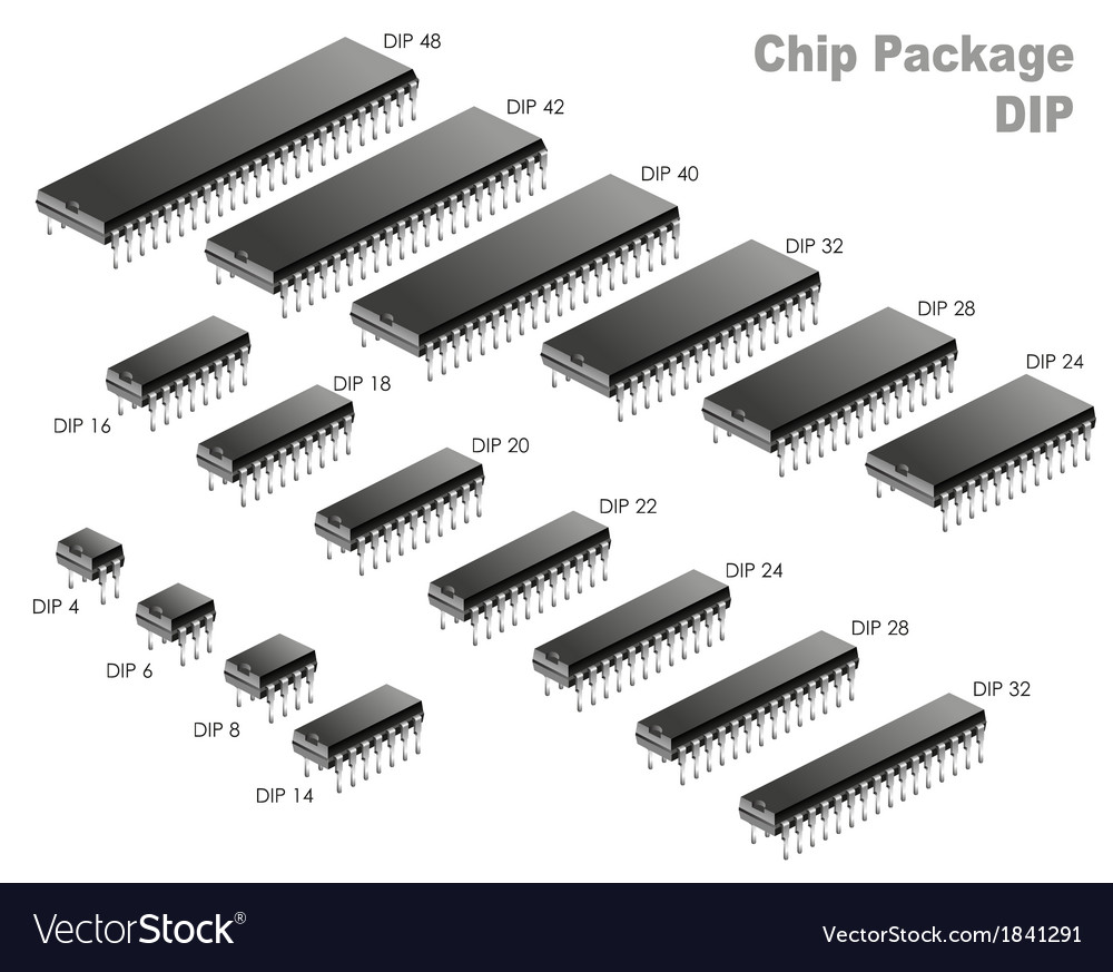 Chip package vector | Price: 1 Credit (USD $1)