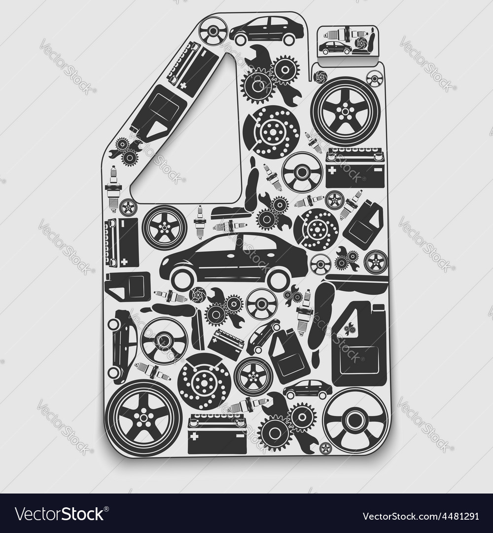 Collection of icons arranged in a canister the vector   Price: 1 Credit (USD $1)