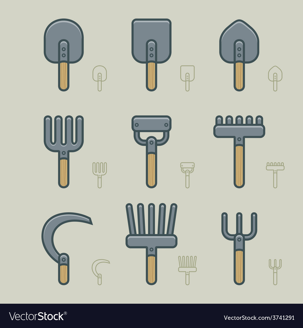 Gardening tools icons vector   Price: 1 Credit (USD $1)