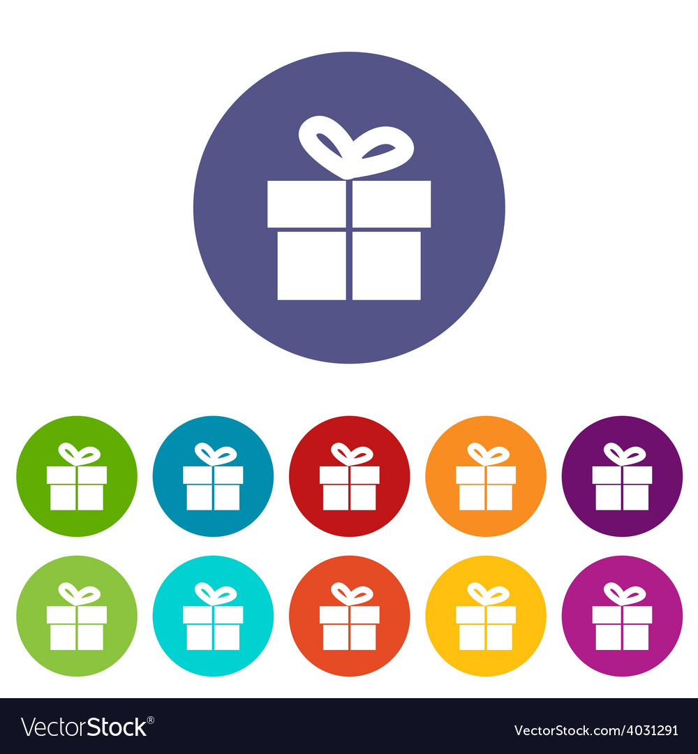 Gift flat icon vector | Price: 1 Credit (USD $1)