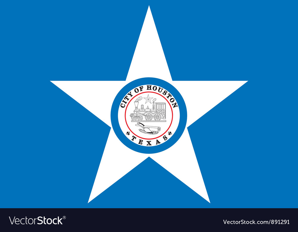Houston city flag vector | Price: 1 Credit (USD $1)