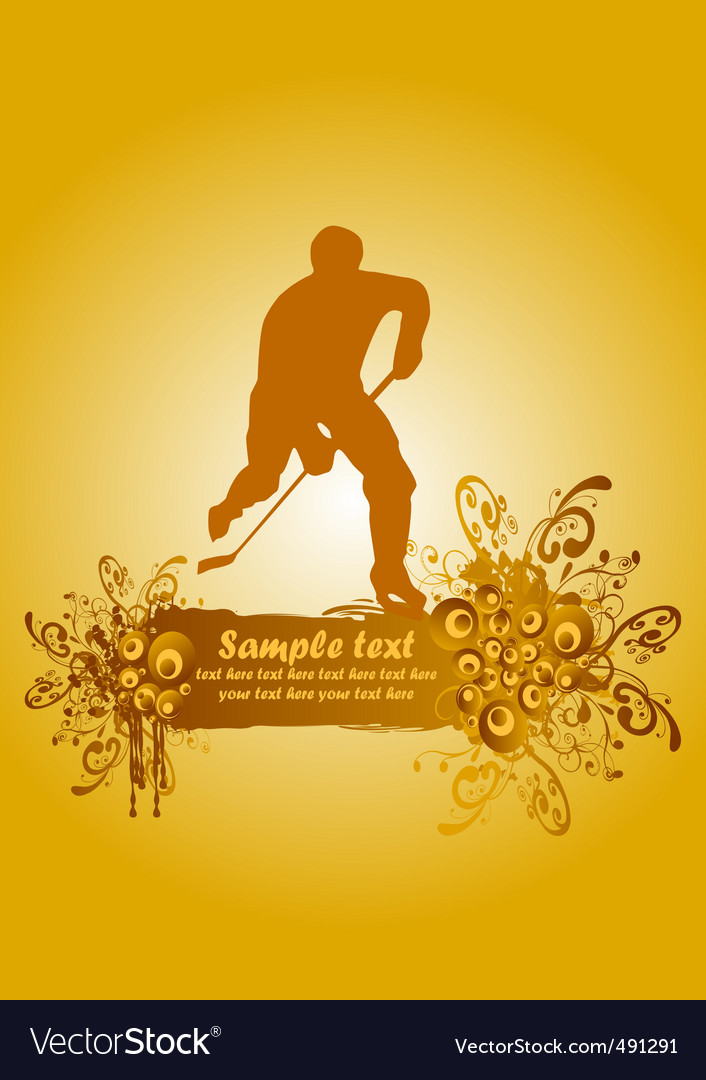 Ice hockey poster vector | Price: 1 Credit (USD $1)