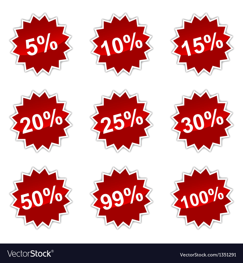 Icons with percent vector   Price: 1 Credit (USD $1)