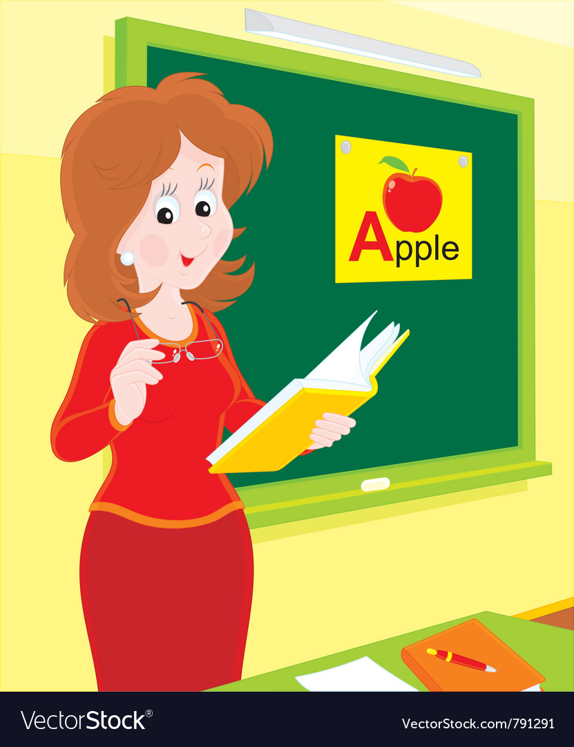 School teacher vector | Price: 3 Credit (USD $3)