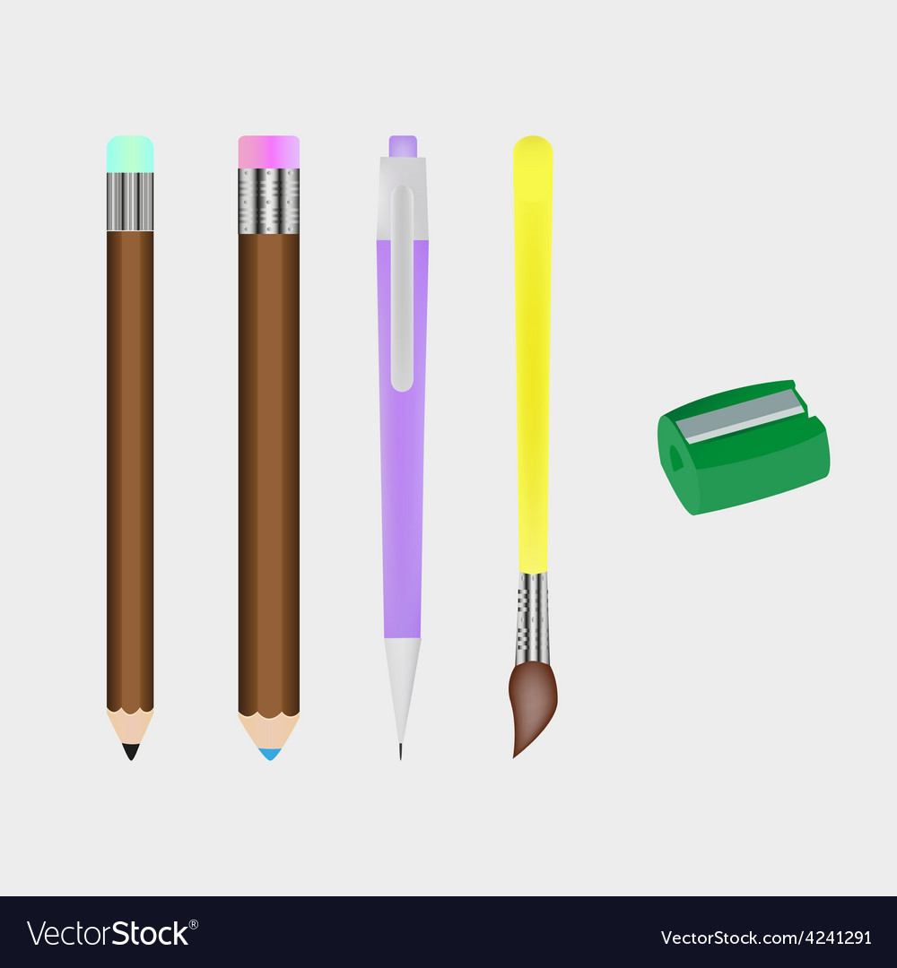 Set of stationery vector | Price: 1 Credit (USD $1)