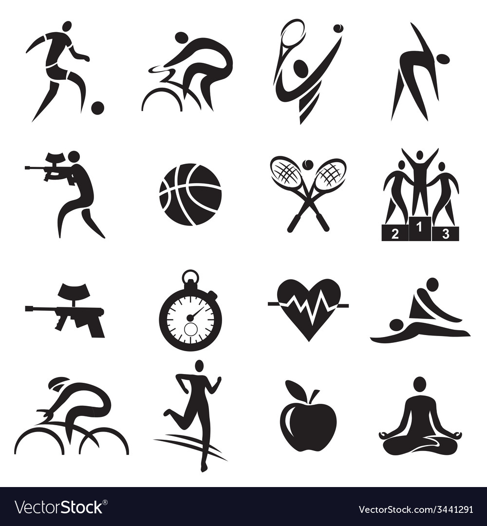 Sport fitness healthy lifestyle icons vector | Price: 1 Credit (USD $1)