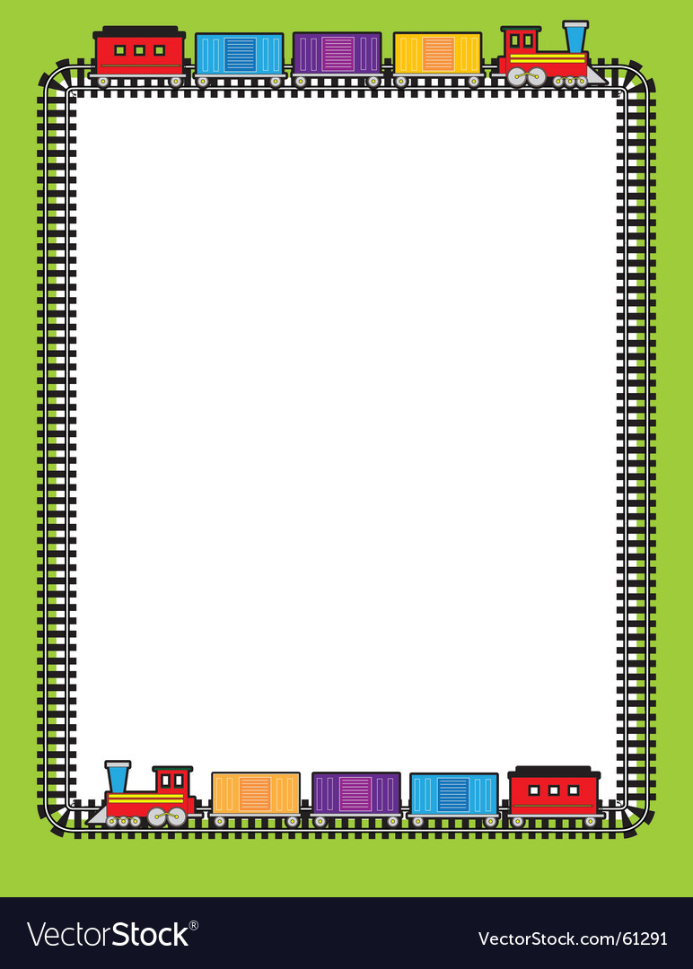 Train border vector | Price: 1 Credit (USD $1)