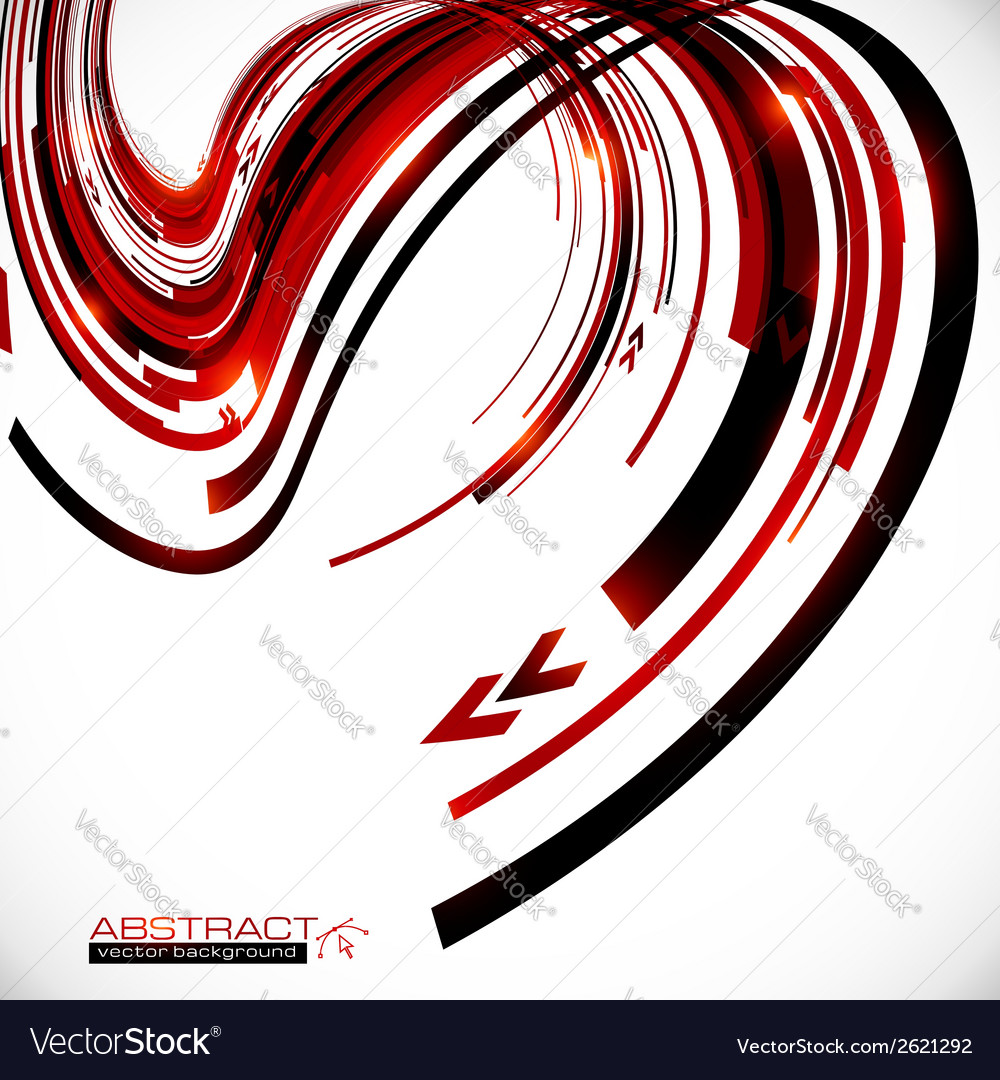 Abstract dark red curves futuristic background vector | Price: 1 Credit (USD $1)