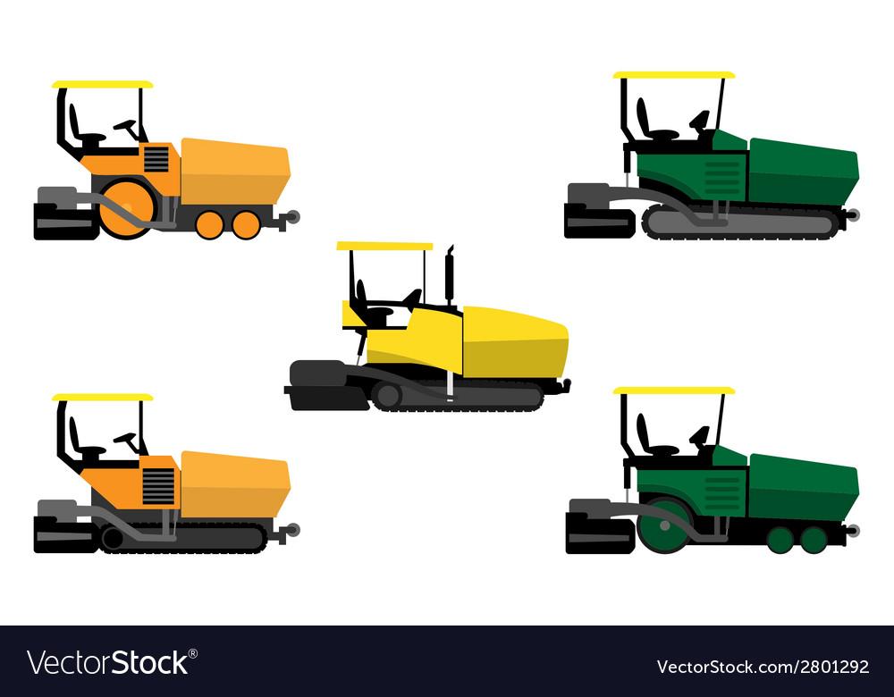 Asphalt pavers set vector | Price: 1 Credit (USD $1)