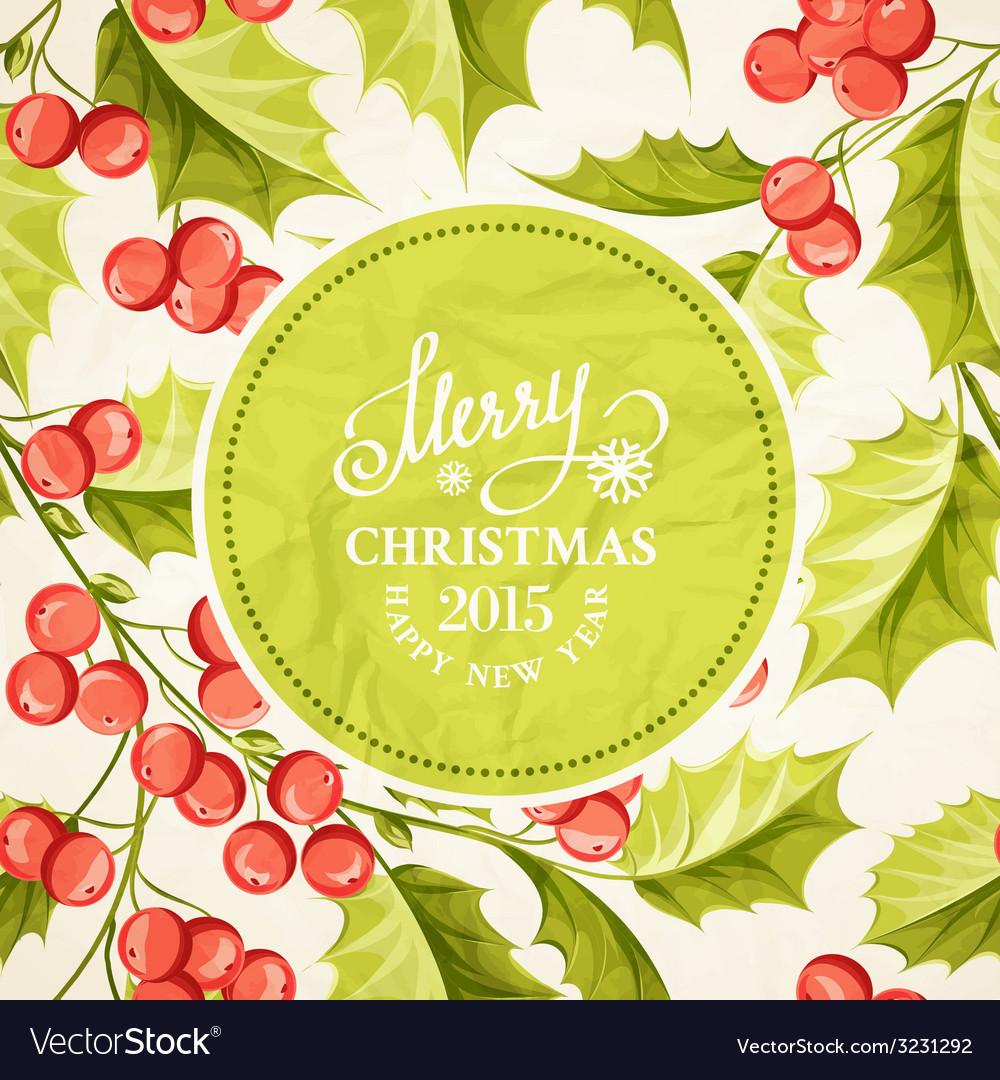 Christmas mistletoe border vector   Price: 1 Credit (USD $1)