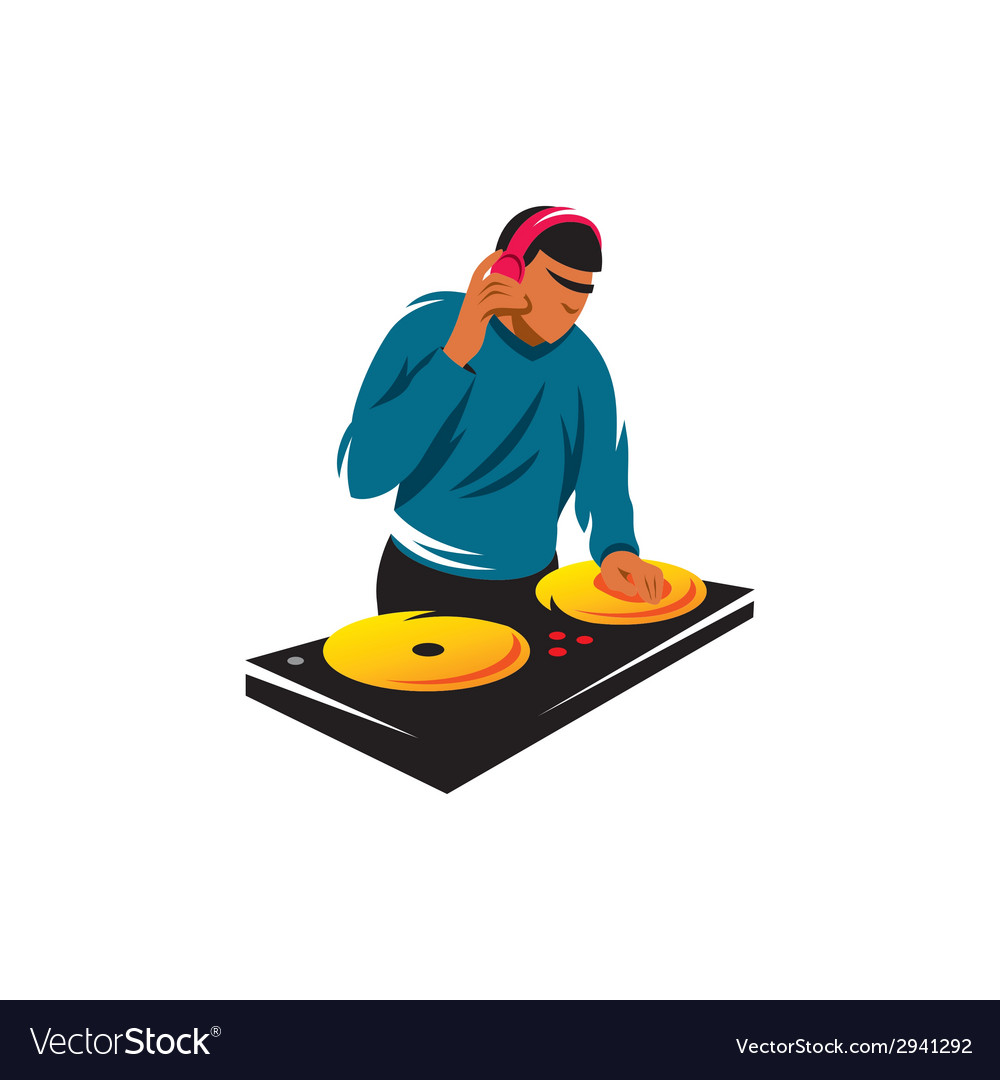 Dj sign vector | Price: 1 Credit (USD $1)