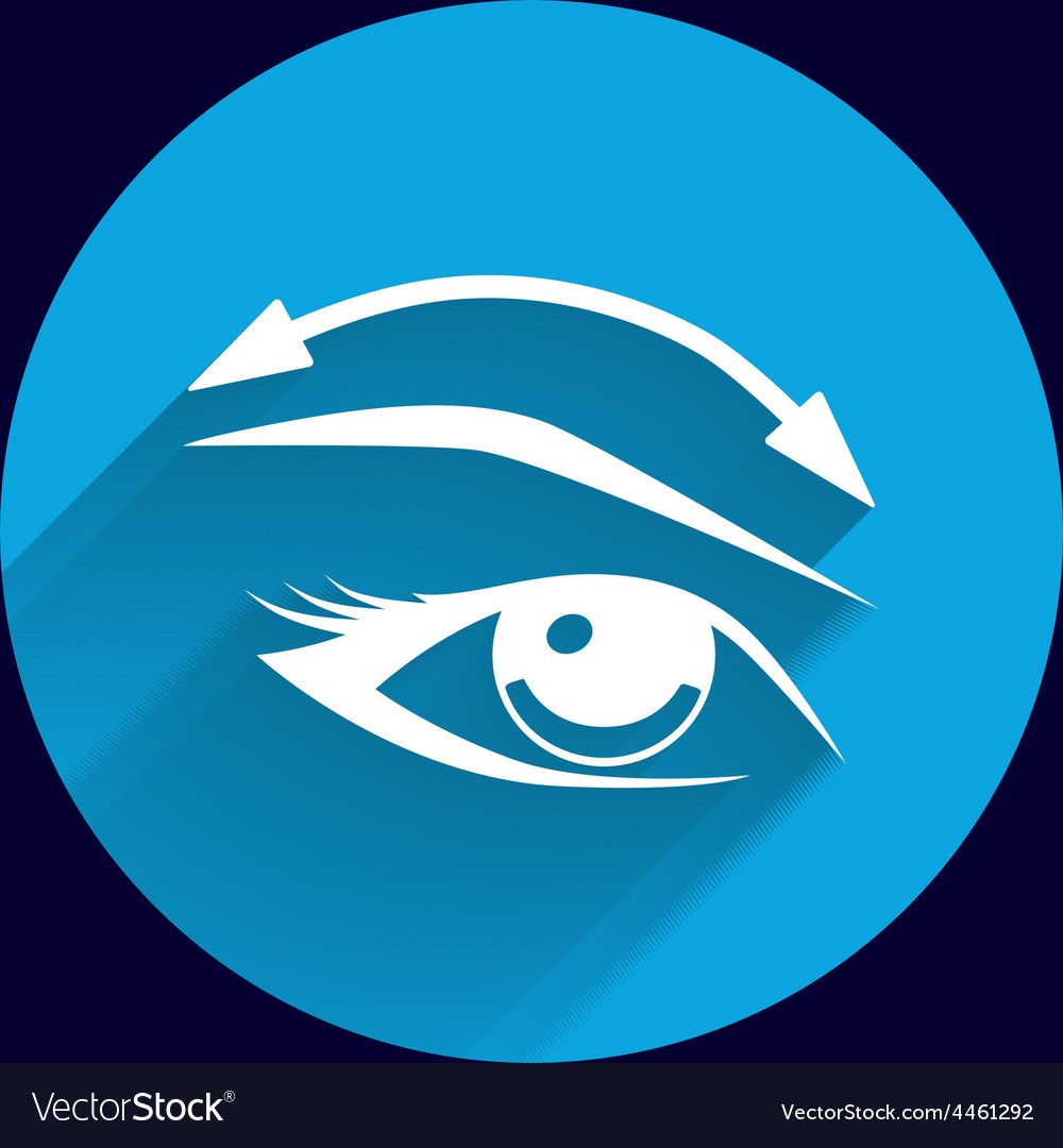 Eyelashes and eyebrows eyelash eye icon makeup vector | Price: 1 Credit (USD $1)