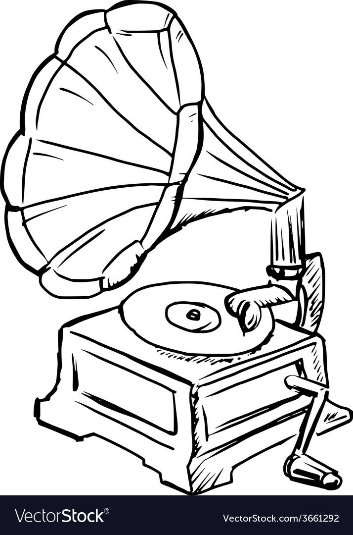 Phonograph vector | Price: 1 Credit (USD $1)