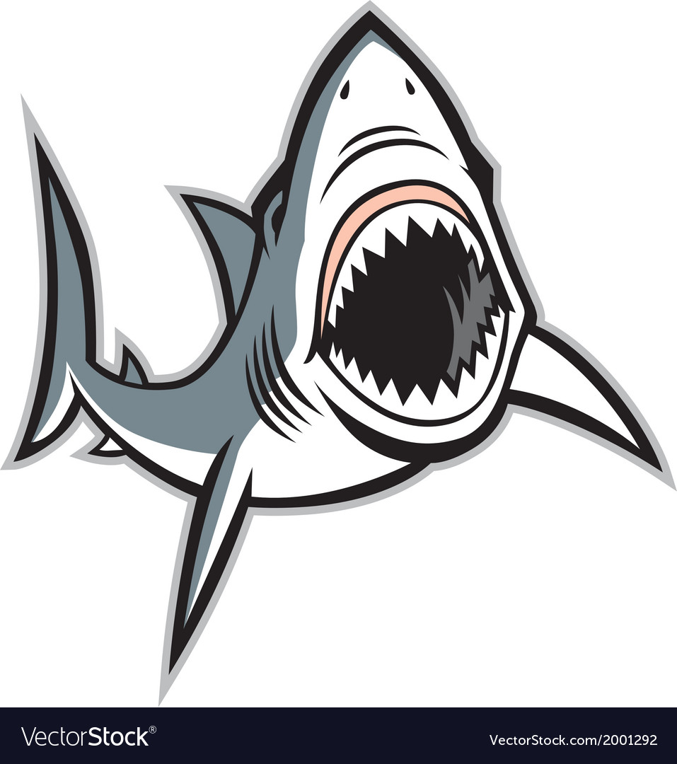 Shark with opened mouth vector | Price: 1 Credit (USD $1)