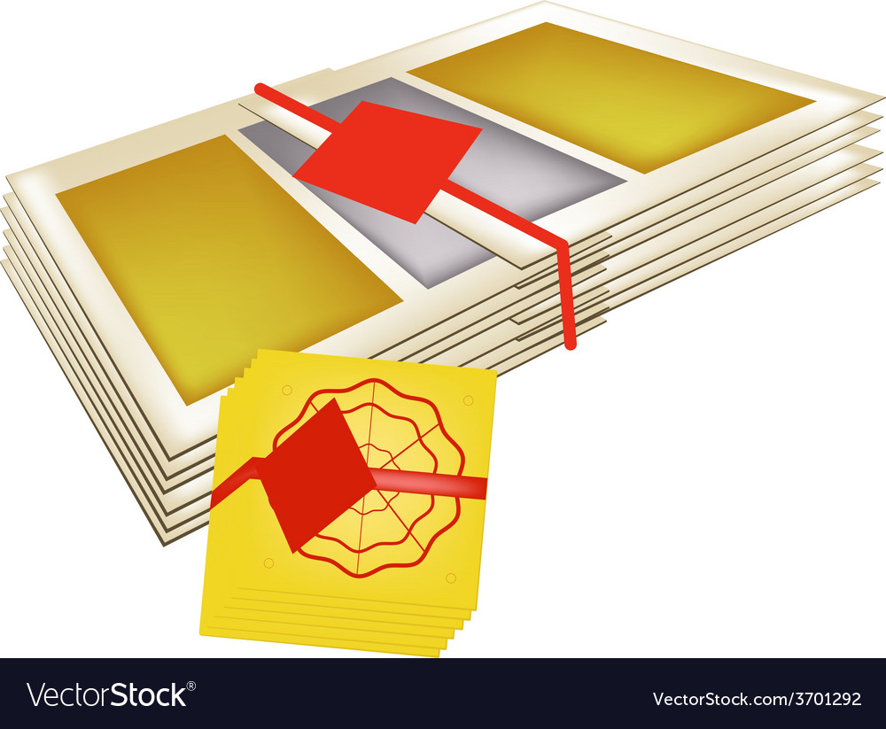 Stack of joss paper for chinese new year vector | Price: 1 Credit (USD $1)