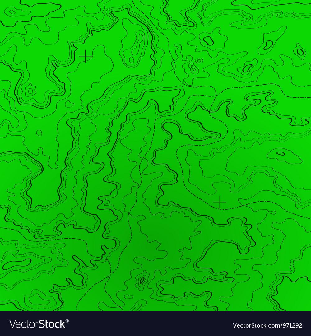 Topographic map radar colors vector | Price: 1 Credit (USD $1)
