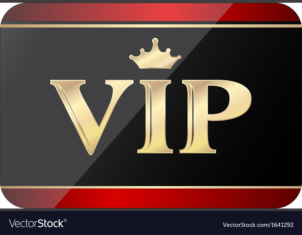 Vip gift card vector | Price: 1 Credit (USD $1)