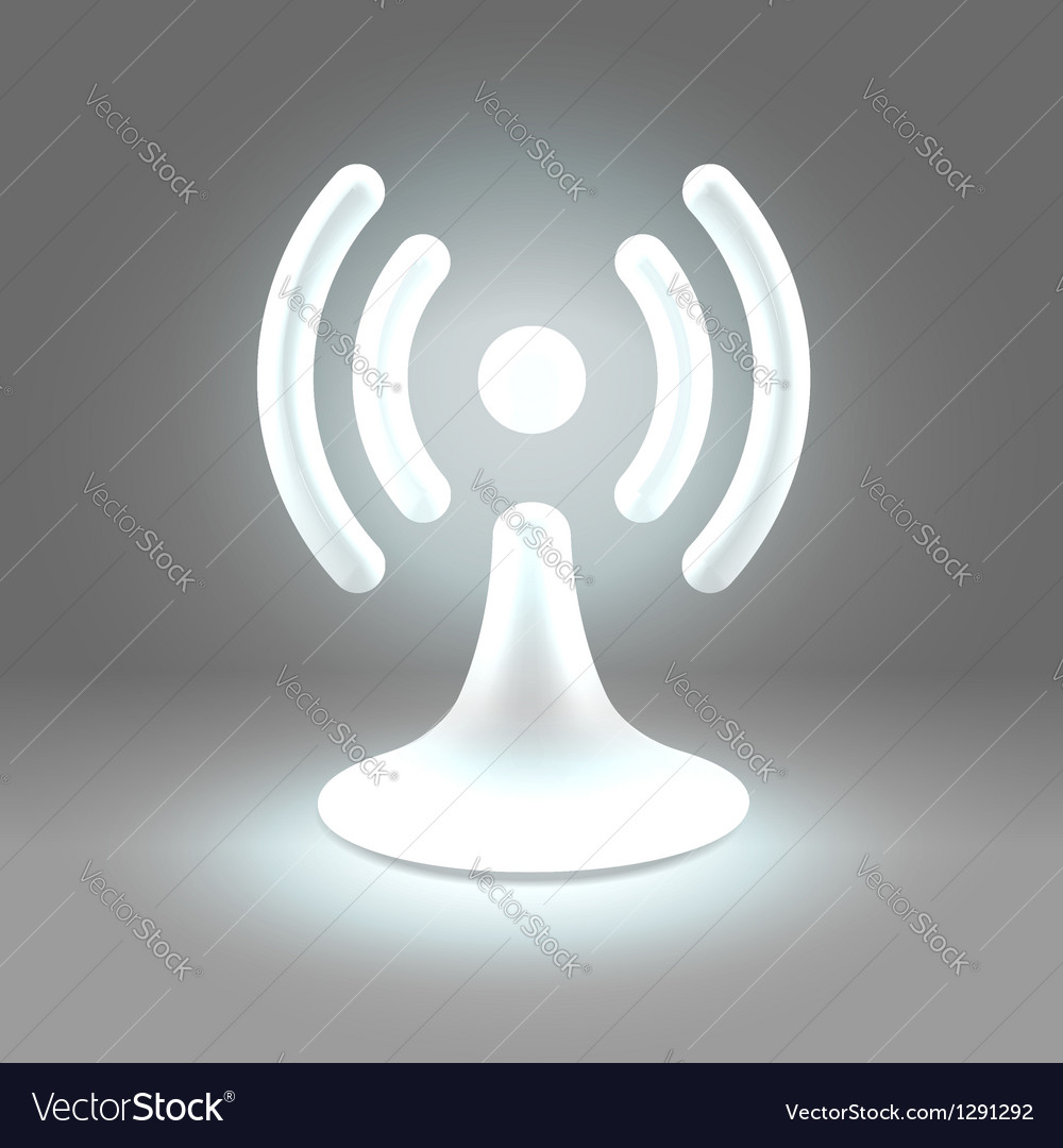 Wifi shining spot over gray vector | Price: 1 Credit (USD $1)