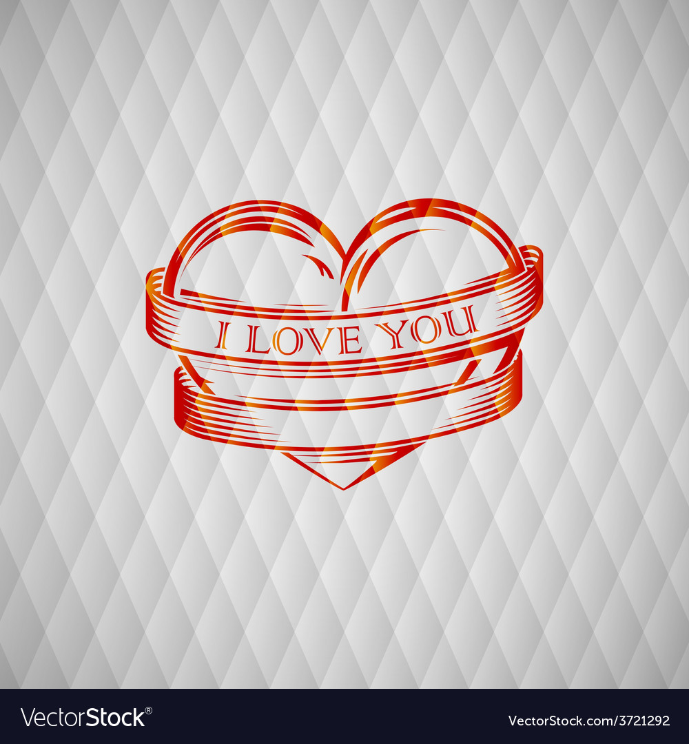 With engraving red heart vector | Price: 1 Credit (USD $1)