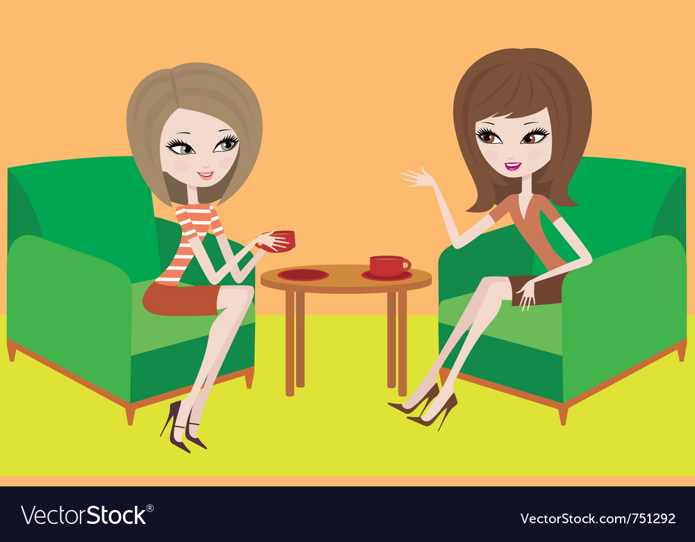Young women talk vector   Price: 3 Credit (USD $3)