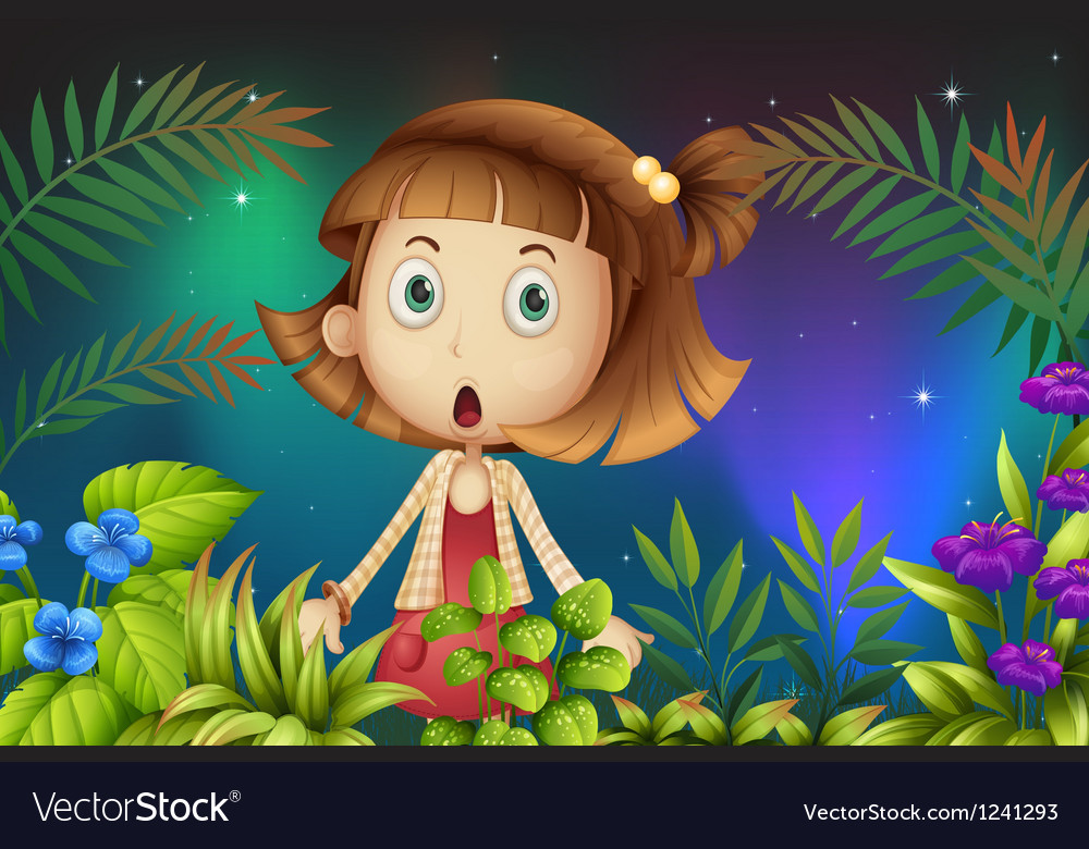A shocked face of a little girl vector | Price: 1 Credit (USD $1)