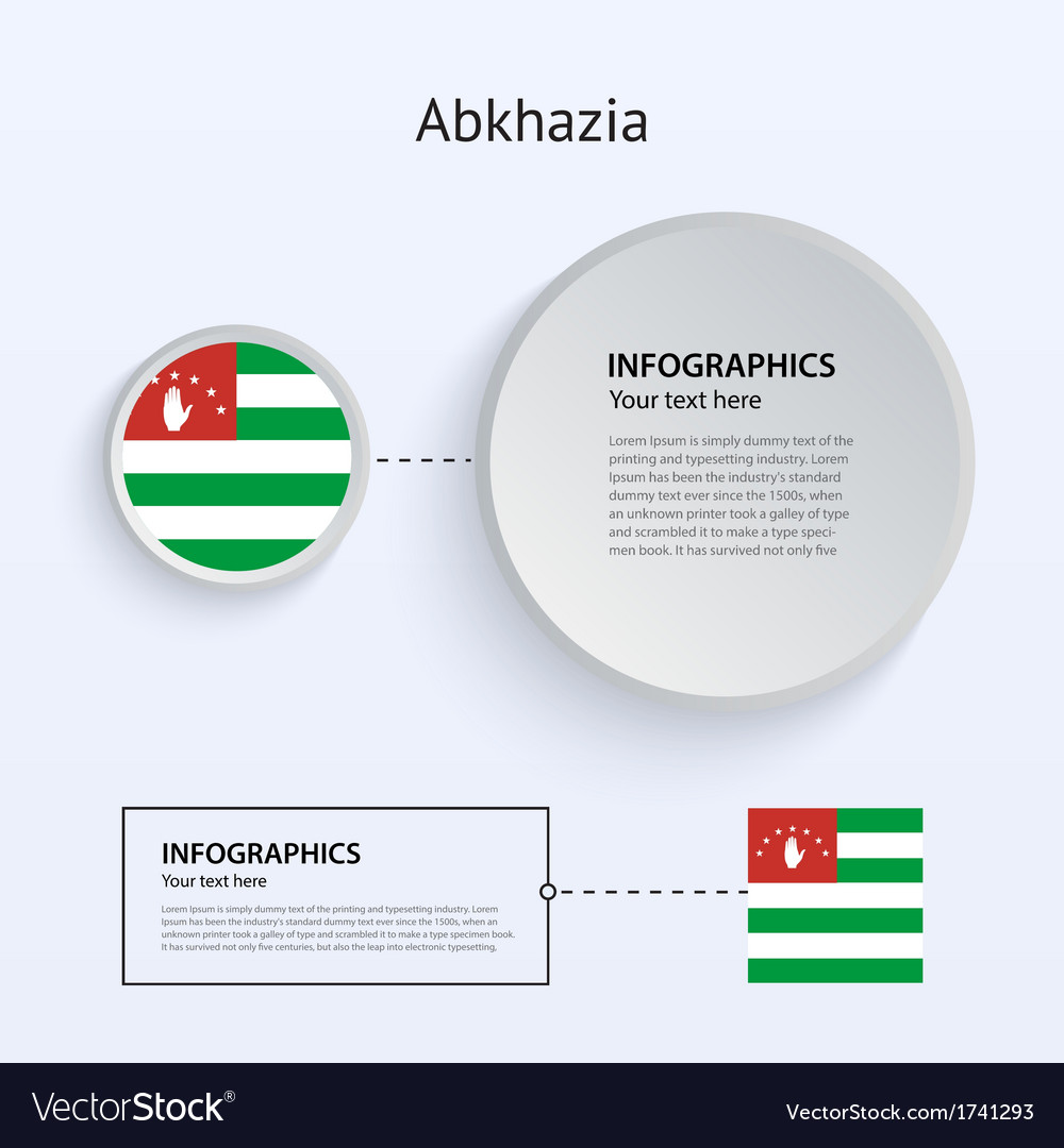 Abkhazia country set of banners vector | Price: 1 Credit (USD $1)