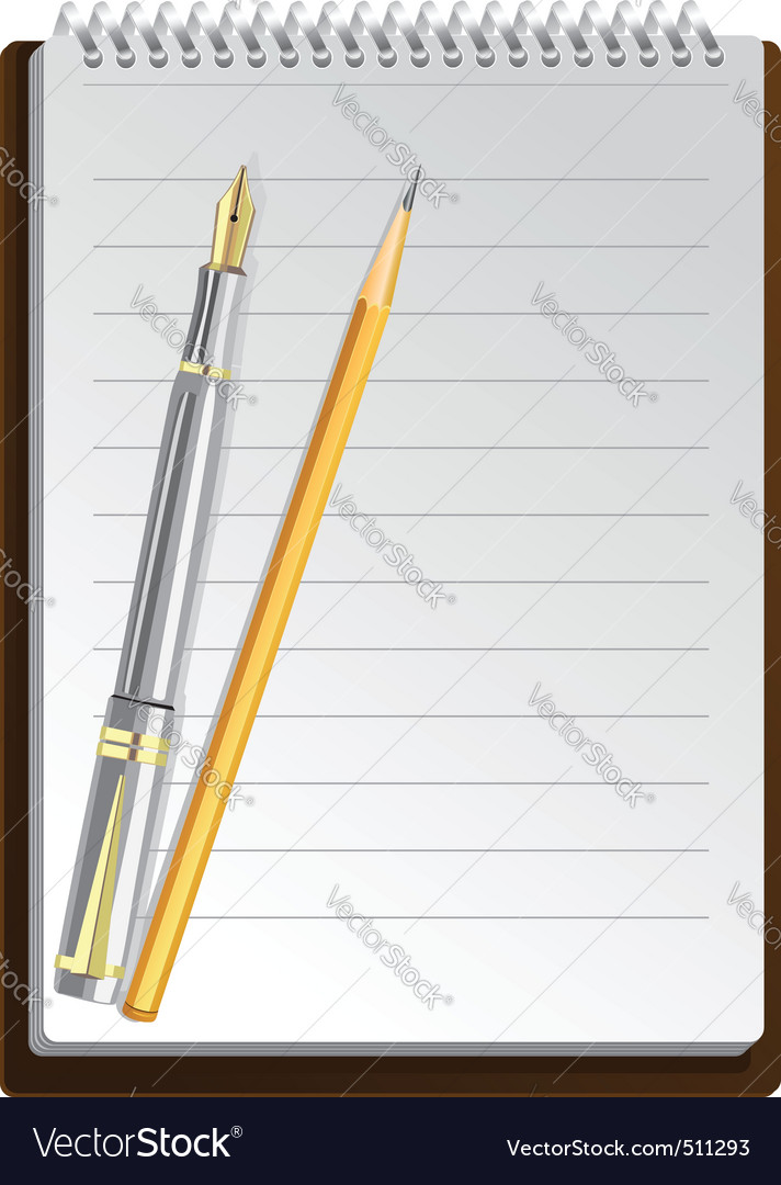 Notebook pens vector | Price: 3 Credit (USD $3)