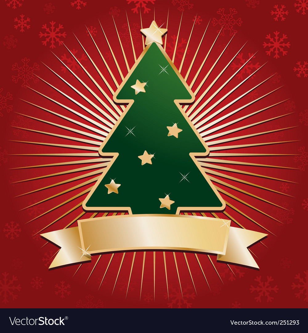 Red and gold christmas background vector | Price: 1 Credit (USD $1)