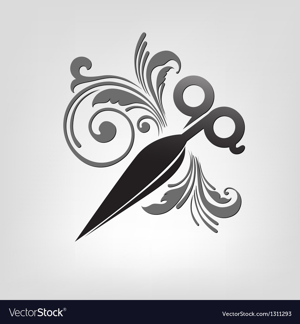 Scissors stylization vector | Price: 1 Credit (USD $1)