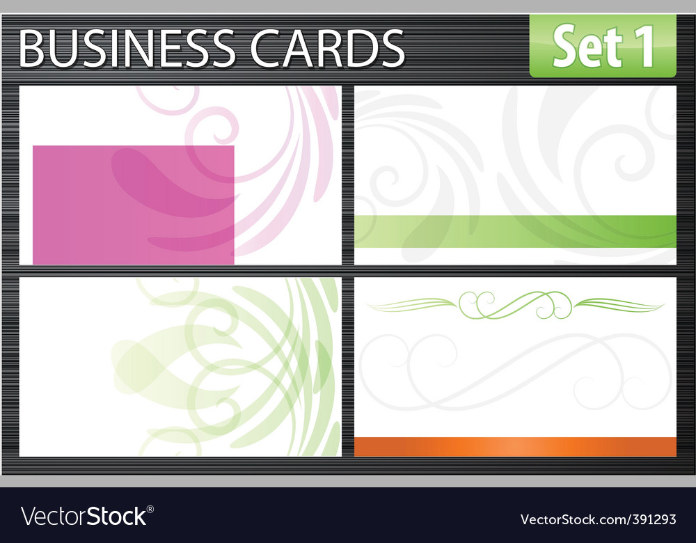 Set of business cards vector | Price: 1 Credit (USD $1)