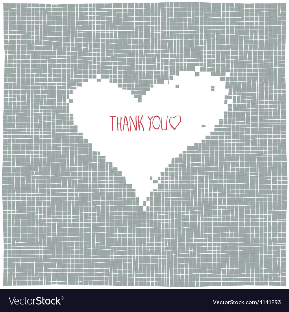 Thank you heart shaped background vector | Price: 1 Credit (USD $1)