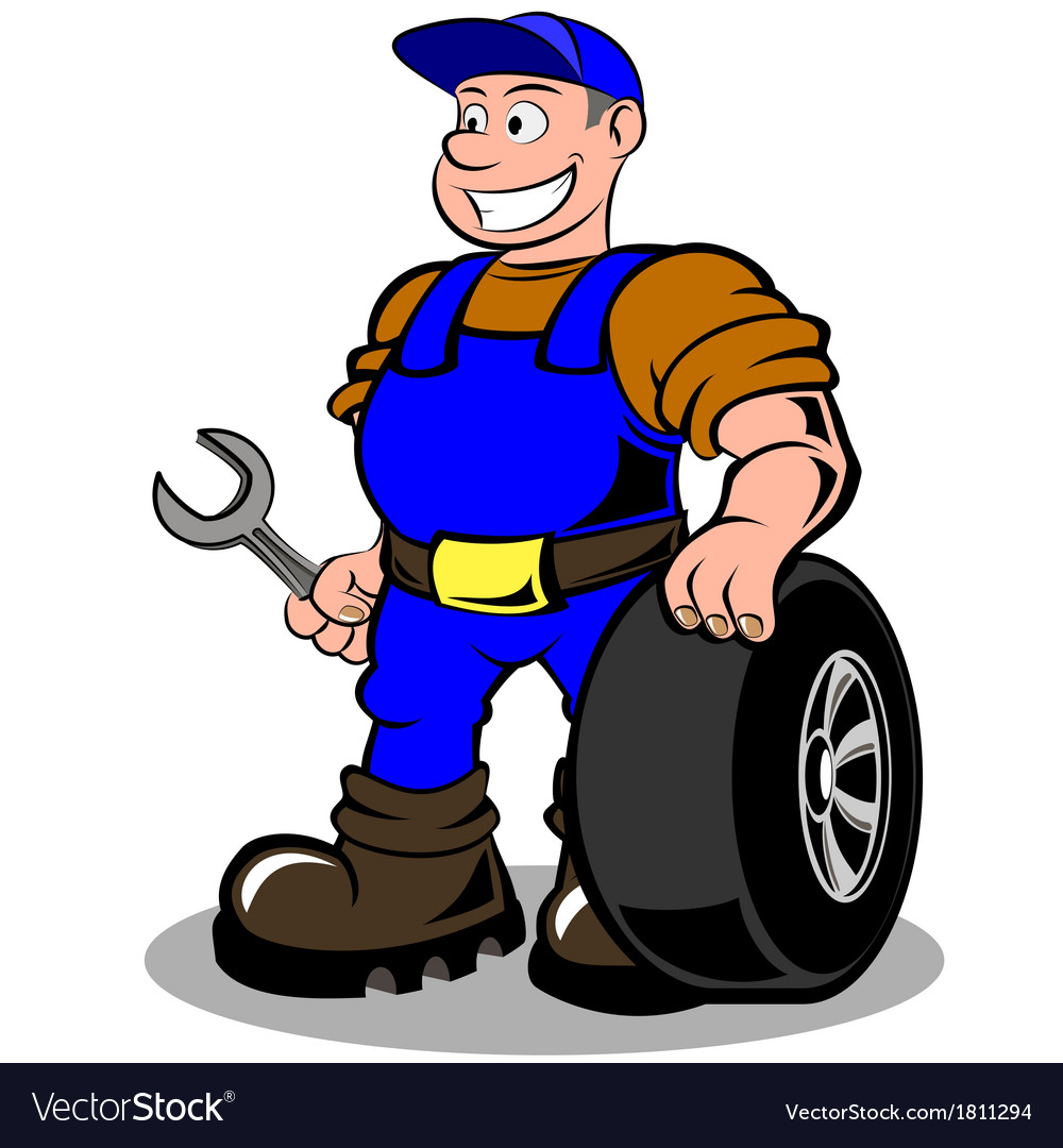 Auto mechanic vector | Price: 1 Credit (USD $1)