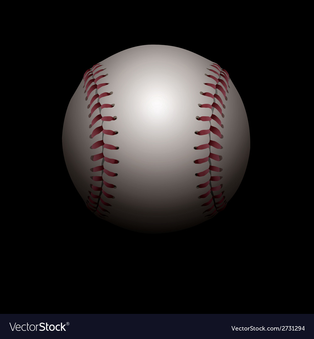 Baseball on black background vector | Price: 1 Credit (USD $1)