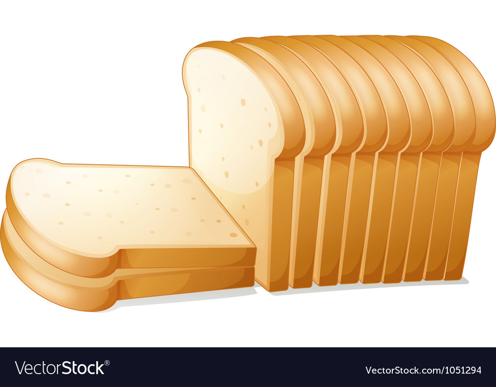 Bread slices vector | Price: 3 Credit (USD $3)