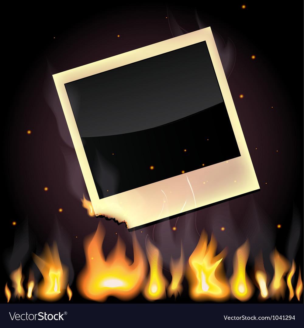 Burning photo vector | Price: 1 Credit (USD $1)