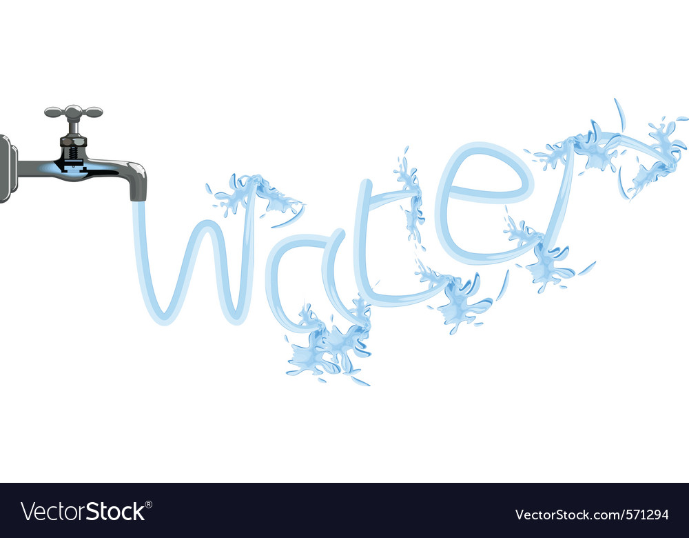 Faucet tap water plumbing vector | Price: 1 Credit (USD $1)