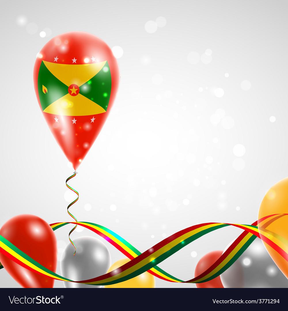 Flag of grenada on balloon vector | Price: 3 Credit (USD $3)
