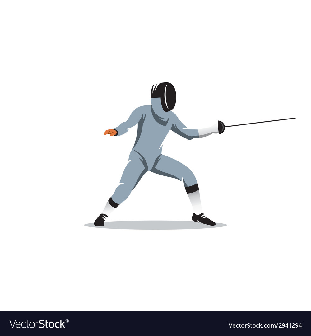 Foil fencer sign vector | Price: 1 Credit (USD $1)