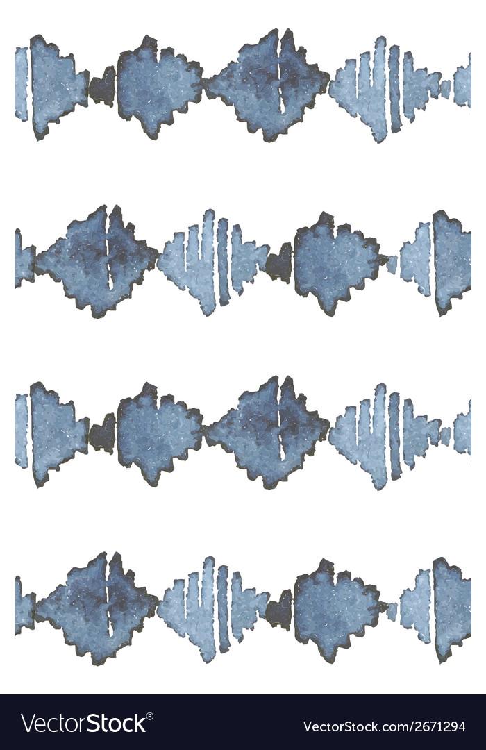 Indigo blue hand drawn seamless pattern vector | Price: 1 Credit (USD $1)