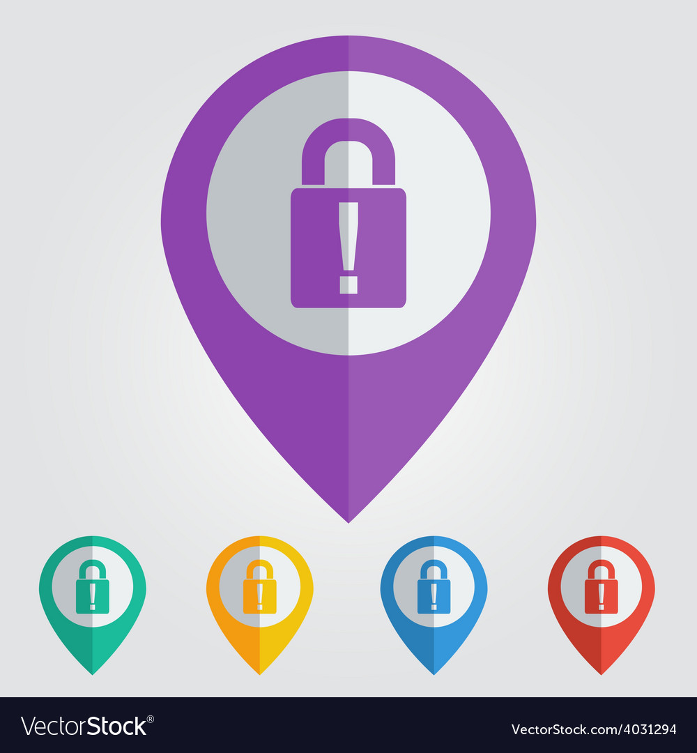 Lock poser flat vector | Price: 1 Credit (USD $1)