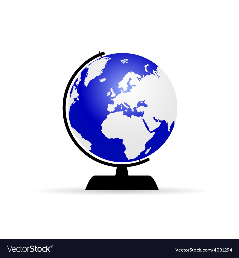 Planet globe color vector | Price: 1 Credit (USD $1)