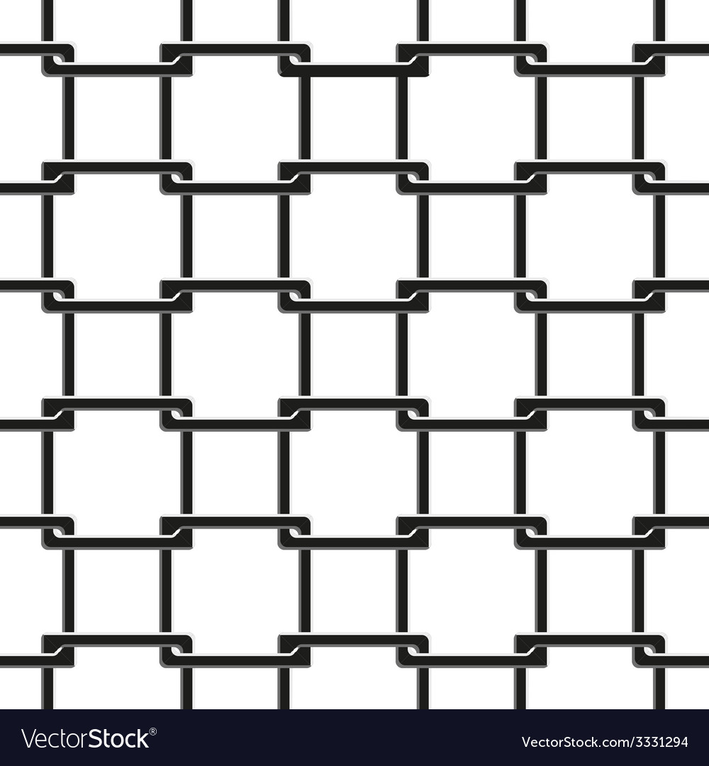 Seamless pattern of chain fence vector | Price: 1 Credit (USD $1)