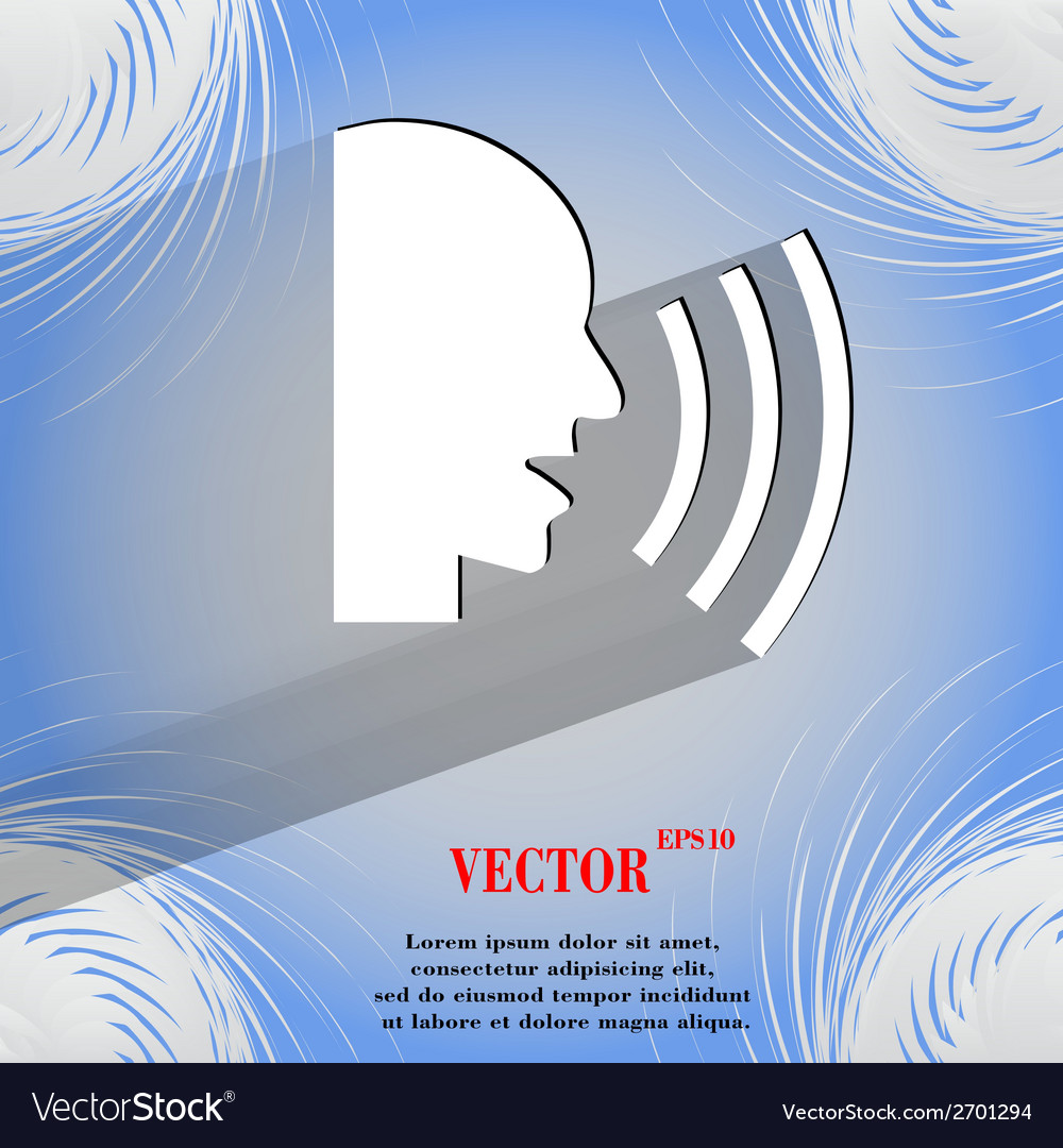 Talking flat modern web design on a flat geometric vector | Price: 1 Credit (USD $1)